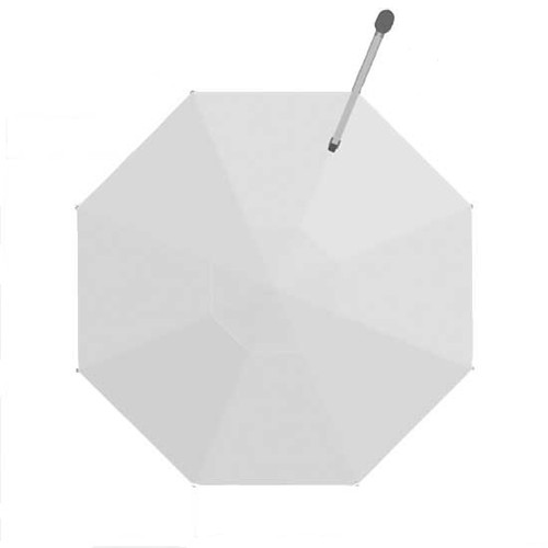Homecrest Soren Octagon Cantilever Umbrella: As shown in Sunbrella Canvas White.