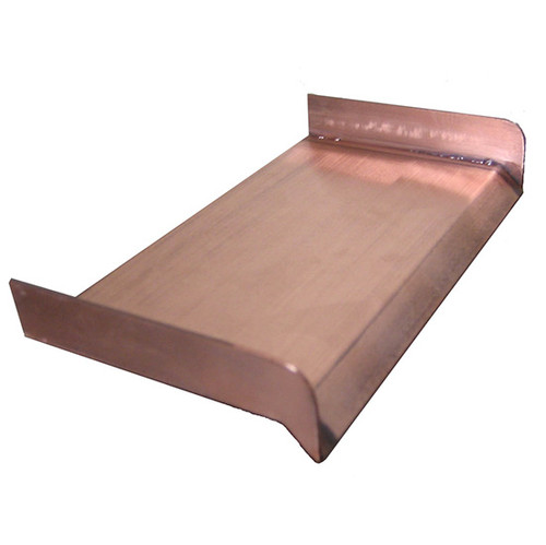 Bobe Smooth Flow Series Copper Spillway: Spillway as shown in polished copper finish.