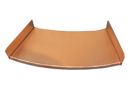 Bobe Radius Spillway: As shown in a polished copper finish.