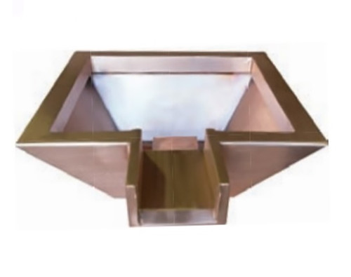 Bobe Square Water Po Pot Bowl: As shown with the original extended lip in the smooth copper finish