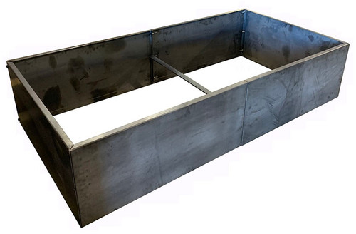 "Mild Steel Raised Rectangle Garden Box: As shown 16 gauge mild steel DIY planter box.  8' x 4' x 16""H."