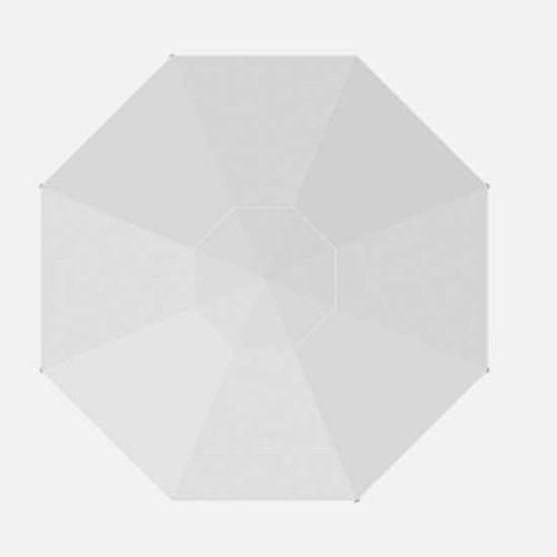 Homecrest Market Umbrella 9ft pulley lift: White Recacril  Canvas Fabric.
