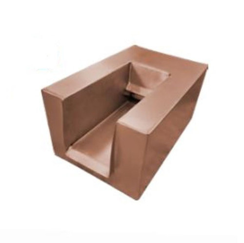 Bobe Water And Fire U-Shape Copper Scupper: Picture shown U-shape scupper with the polished copper finish.