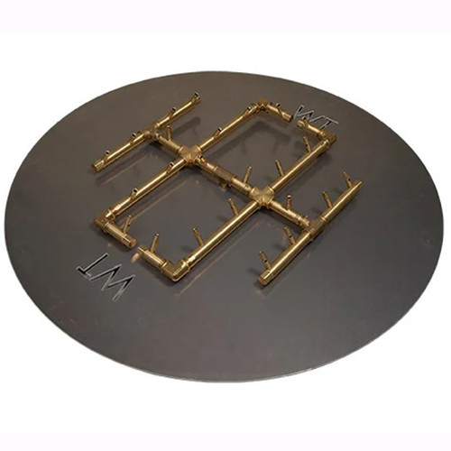 "CFB240 Crossfire Brass Burner: As shown with 240k BTU brass burner and 30"" circular aluminum plate."