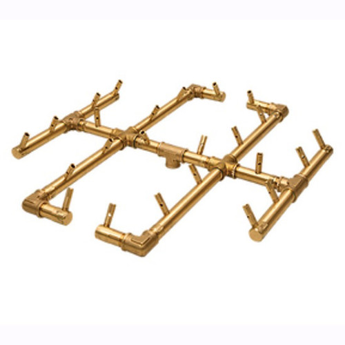 Warming Trends CFB290 Crossfire Brass Burner: As shown all brass construction 21.5 inch square 3/4  inch .