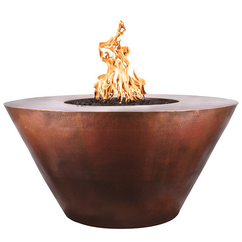 Martillo Hammered Copper Fire Pit by The Outdoor Plus: As shown hand hammered copper finish