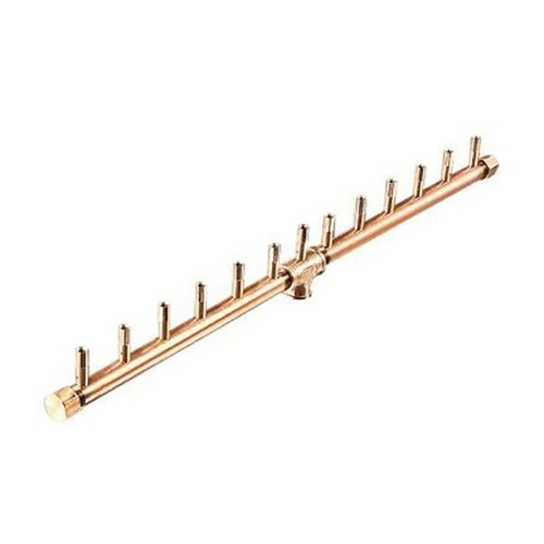 Warming Trends 26 inch Linear Crossfire Brass Burner- As shown 26 inch length linear CFBLNG crossfire burner in all brass.
