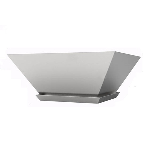 Bobe Artisan Square Stainless Steel Planter Pot: As shown in the stainless steel finish with the optional drip tray