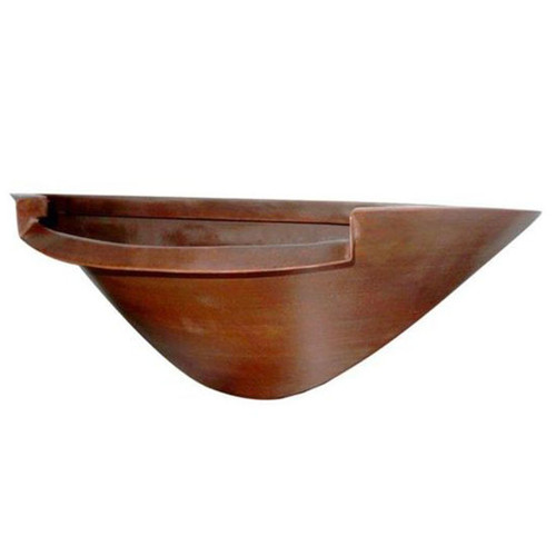 Bobe Water And Fire Wall Mounted Bowl: As shown mounted bowl water feature in the smooth copper finish.