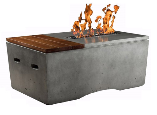 Slick Rock Concrete Oasis Fire Table: As shown in the GFRC shale finish
