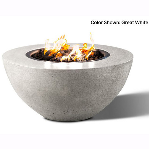 Concrete Oasis Fire Bowl: Shown in the great white finish.