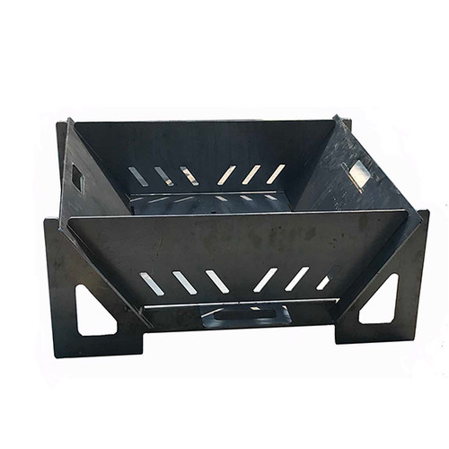 """Yard Couture Steel Modular Camper Fire Pit: As shown in the 1/4"""" thick raw carbon steel"""
