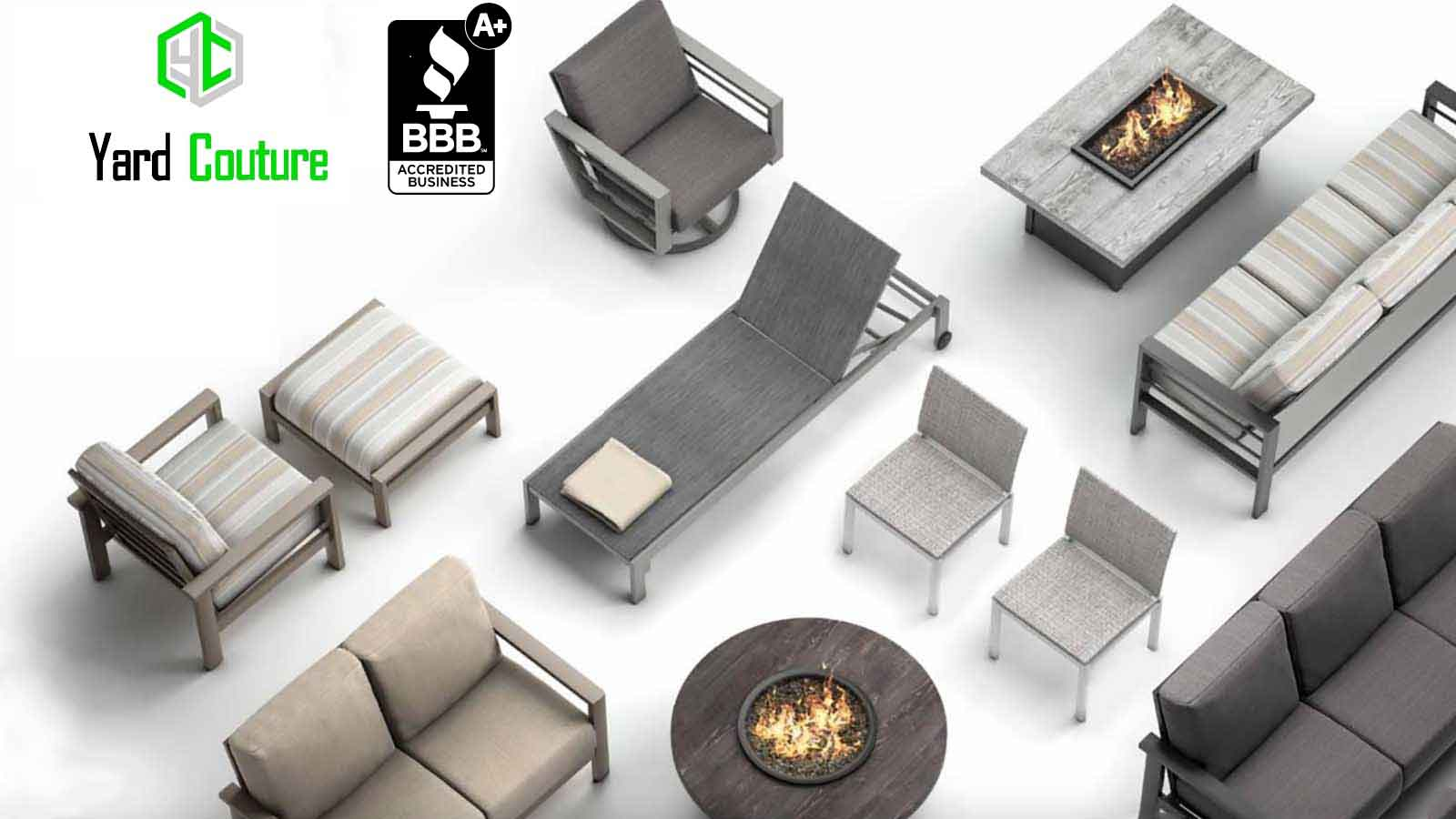Homecrest contemporary outdoor gas fire tables and patio furniture