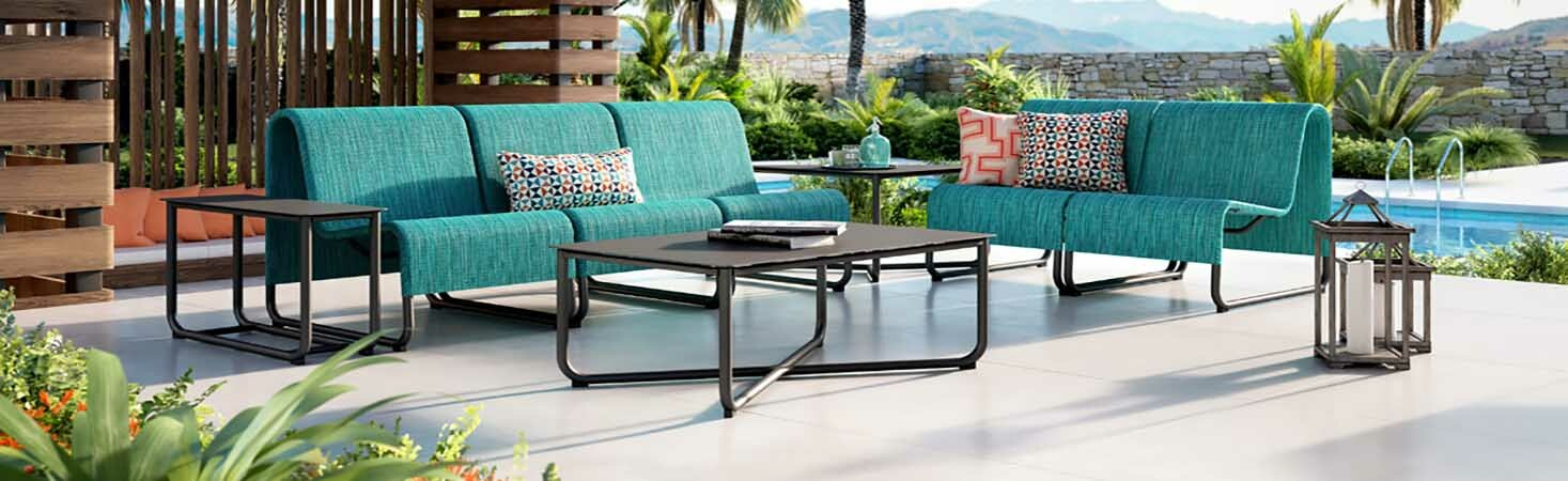 Homecrest Modern Outdoor Dining Set Infinity Collection