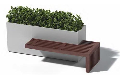 Linear Planter Bench