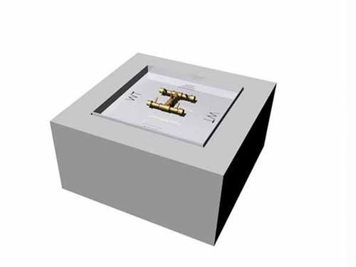 Warming Trends Gas Ready to finish fire pit kit- Square shown with aluminum  frame construction ... - Crossfire Square Ready To Finish Fire Pit Kit
