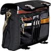 Black Northwest Expandable Messenger Bag - Open | Hardgoods.ca