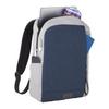 "Grey/ Navy - NBN Whitby Slim 15"" Computer Backpack w/ USB Port   HardGoods.ca"