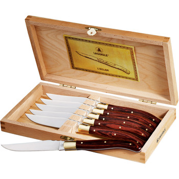 Laguiole 6-Piece Steak Knife Set (Wood) | Hardgoods.ca