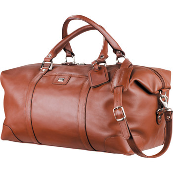 Cutter & Buck® Leather Weekender Duffel Bag