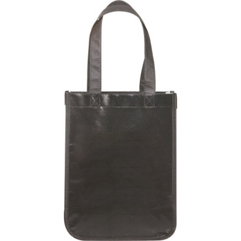 Black - Small Laminated Non-Woven Shopper Tote | Hardgoods.ca
