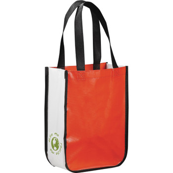 Red - Small Laminated Non-Woven Shopper Tote | Hardgoods.ca