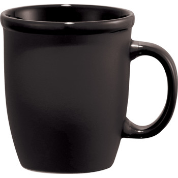 Black - Cafe Au Lait Ceramic Mug 12oz | Hardgoods.ca