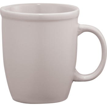 White - Cafe Au Lait Ceramic Mug 12oz | Hardgoods.ca