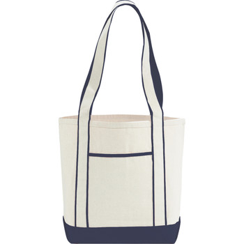 Navy 10 oz. Cotton Canvas Top Sail Boat Tote | Hardgoods.ca
