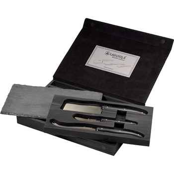 Black Laguiole Black Cheese & Serving Set