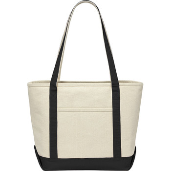 Black - Premium 18oz Cotton Canvas Boat Tote | Hardgoods.ca