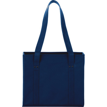 Navy - 100g Non-Woven Collapsible Tote | Hardgoods.ca