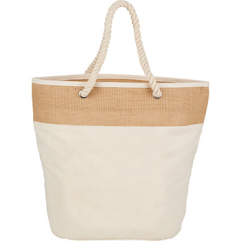 Jute Accent 12oz Cotton Canvas Rope Tote | Hardgoods.ca