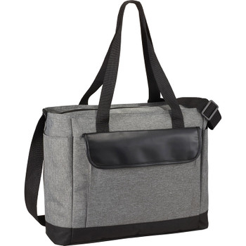 Professional Heathered Tote with Vinyl Accent | Hardgoods.ca