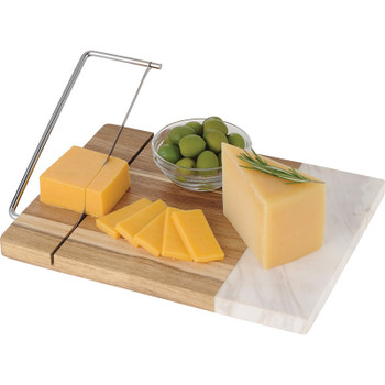 Marble and Acacia Wood Cheese Cutting Board | Hardgoods.ca