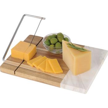 Marble and Acacia Wood Cheese Cutting Board | Hardgoods.ca
