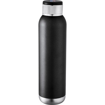 Black - Soundwave Copper Vacuum Audio Bottle 22oz | Hardgoods.ca