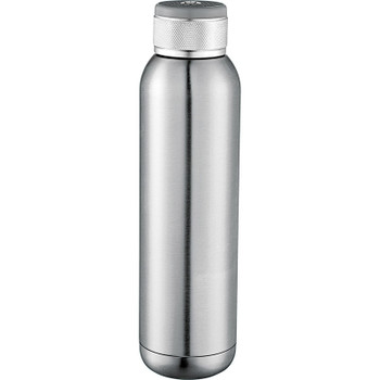 Silver - Soundwave Copper Vacuum Audio Bottle 22oz | Hardgoods.ca
