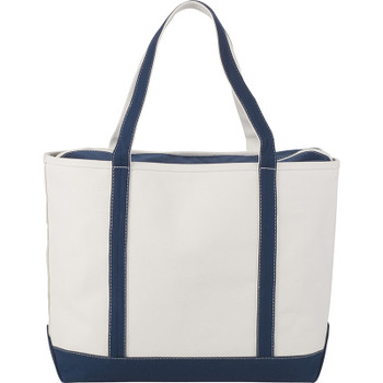 Navy - Premium 24oz Cotton Canvas Zippered Boat Tote | Hardgoods.ca