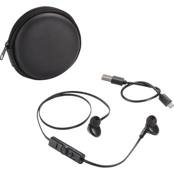 Black - Sonic Bluetooth Earbuds and Carrying Case | Hardgoods.ca