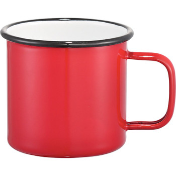 Red - Enamel Metal Cup 16oz | Hardgoods.ca