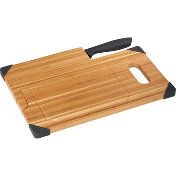Bamboo Cutting Board with Knife | Hardgoods.ca