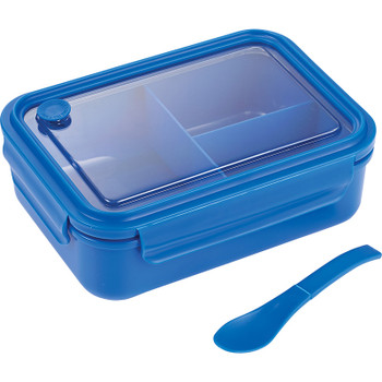 Blue - Three Compartment Food Storage Bento Box | Hardgoods.ca