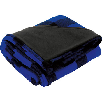 Blue - Buffalo Plaid Ultra Plush Throw Blanket | Hardgoods.ca