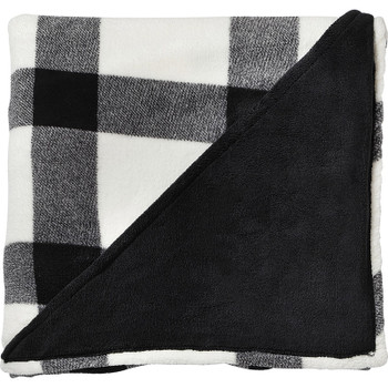 White - Buffalo Plaid Ultra Plush Throw Blanket | Hardgoods.ca