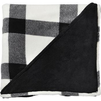 White - Buffalo Plaid Ultra Plush Throw Blanket | Hardgoods.ca