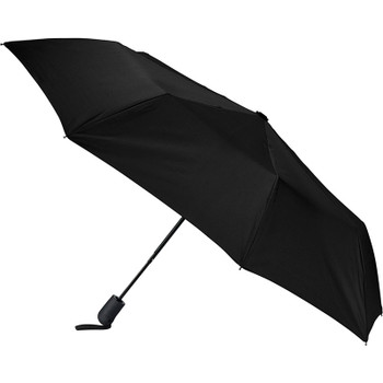 Black - 42'' Heathered Strap Auto Open Umbrella | Hardgoods.ca