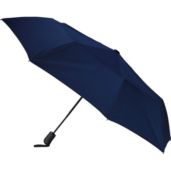 Navy - 42'' Heathered Strap Auto Open Umbrella | Hardgoods.ca
