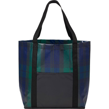 Blue/Green - Buffalo Plaid Laminated Shopper Tote | Hardgoods.ca