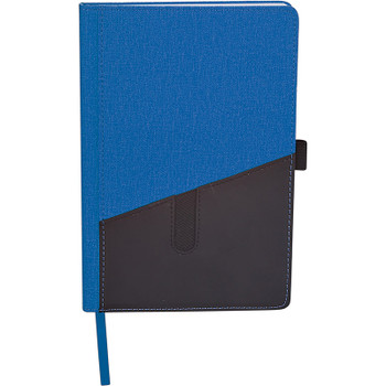 Blue - Siena Heathered Bound JournalBook | Hardgoods.ca